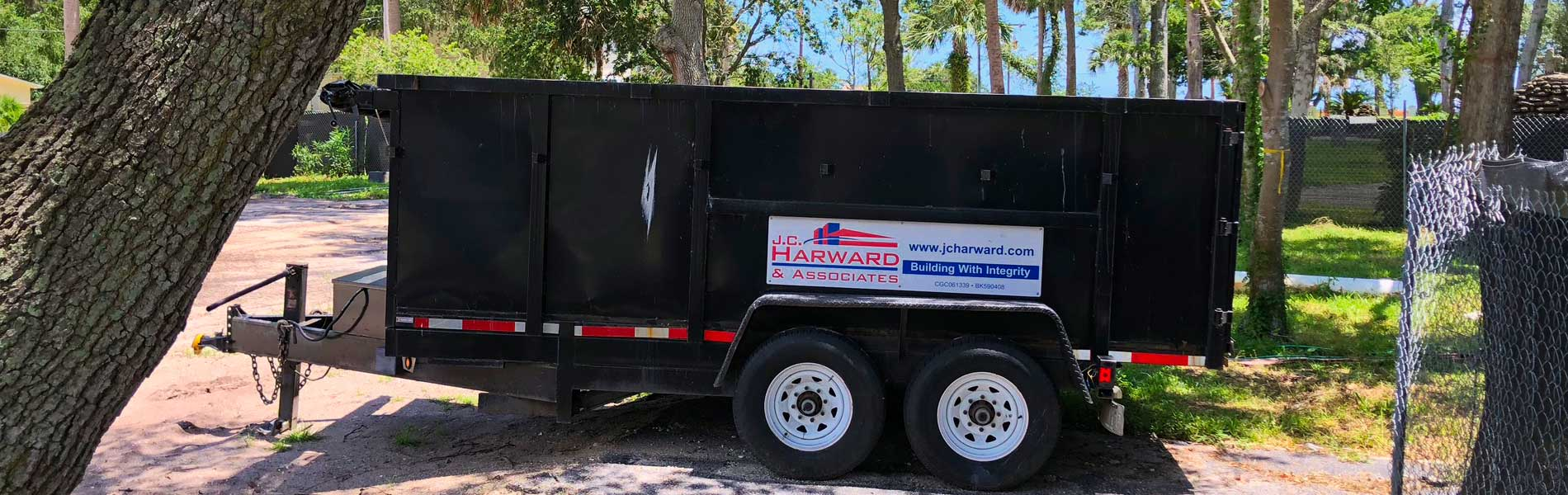 J.C. Harward & Associates construction trailer